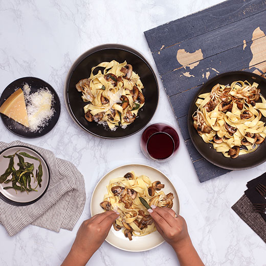 Sage with Brown Butter Mushroom Pasta