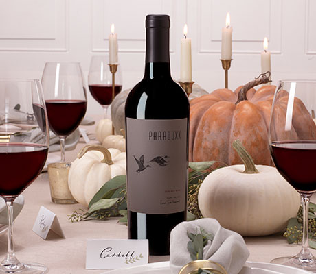 Paraduxx Cork Tree Vineyards red wine on a Holiday table