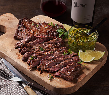 Skirt Steak with Chimichurri Sauce Recipe