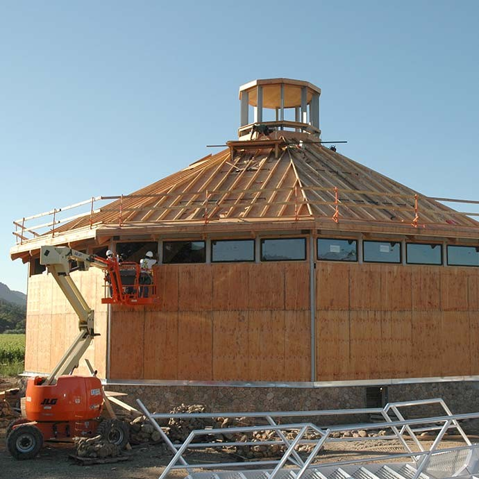 Fermentation building under construction