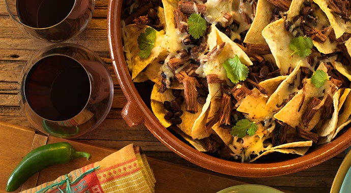 Recipe: Nachos with Brisket and Black Beans
