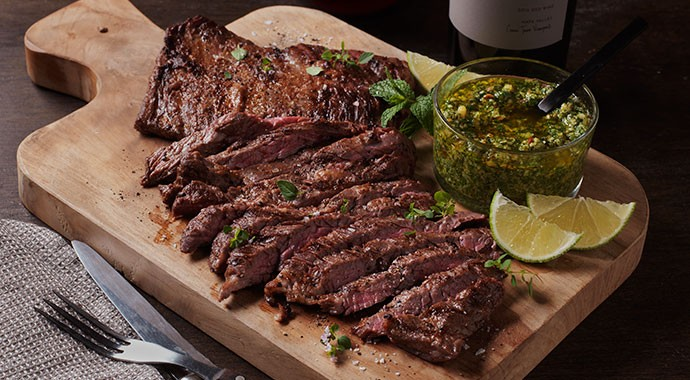 Recipe: Skirt Steak with Chimichurri Sauce